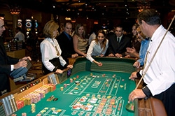 Playing craps at the casino